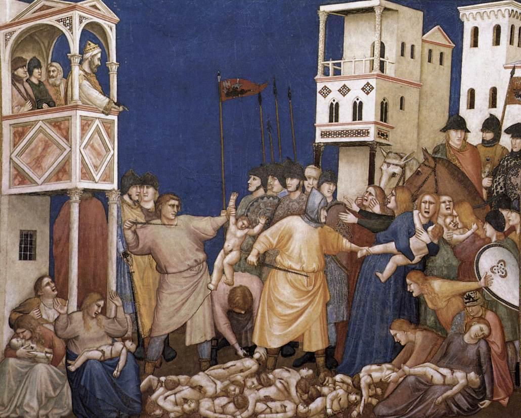 Джотто ди Бондоне. Фреска Избиение Младенцев